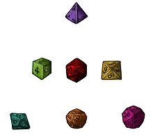 Colourful Polyhedron Dice Photographic Print