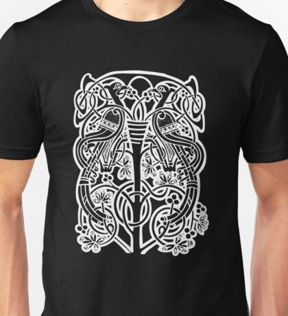 Celtic owl width birds on vine tree Unisex T-Shirt