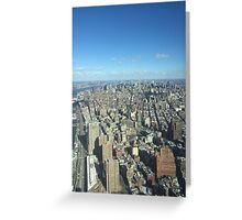 Looking over New York City Greeting Card