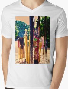 scented sticks...check out that pineapple... Mens V-Neck T-Shirt