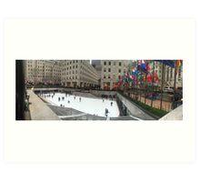 Rockefeller Center Ice Rink Art Print