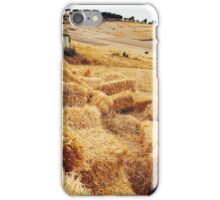Straw Bales in Beautiful Countryside iPhone Case/Skin