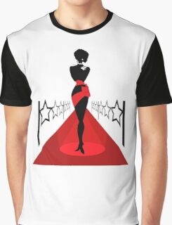 Woman silhouette on a red carpet Graphic T-Shirt