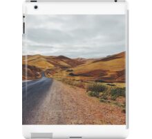 Empty Road in Dry Hilly Countryside iPad Case/Skin