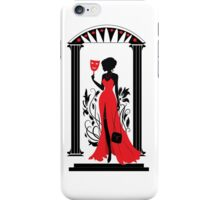 Graphic silhouette of a woman. Isabelle series iPhone Case/Skin