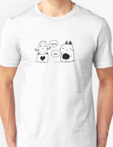 The Cat and The Cactus Print  Unisex T-Shirt