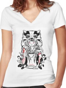 Native English Girl Women's Fitted V-Neck T-Shirt