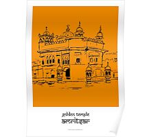 Sketches of India - Golden Temple Poster