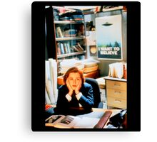 DANA SCULLY x files Canvas Print