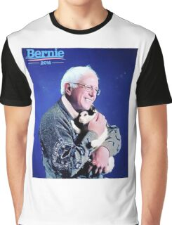 Bernie and his Cat Funny Graphic T-Shirt