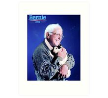 Bernie and his Cat Funny Art Print