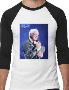 Bernie and his Cat Funny Men's Baseball ¾ T-Shirt