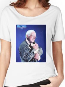Bernie and his Cat Funny Women's Relaxed Fit T-Shirt