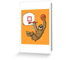 Basketballing sloth Greeting Card