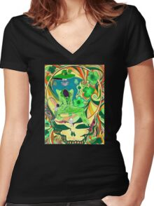 Shamrock Shakedown Women's Fitted V-Neck T-Shirt