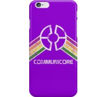 Communicore Logo from EPCOT Center in Vintage Distressed Style iPhone Case/Skin