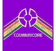 Communicore Logo from EPCOT Center in Vintage Distressed Style Photographic Print