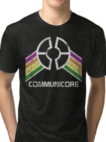 Communicore Logo in Vintage Distressed Style Tri-blend T-Shirt