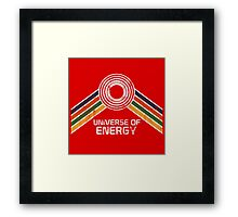 Universe of Energy Logo in Vintage Distressed Style Framed Print