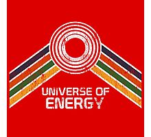 Vintage Distressed Universe of Energy Logo from EPCOT Center Photographic Print