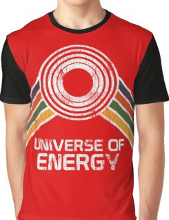 Universe of Energy Logo in Vintage Distressed Style Graphic T-Shirt