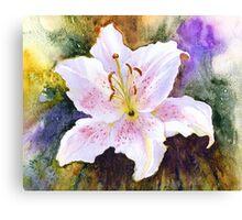 "Lily ""Muscadet"" (Lilium Orientalis Muscadet) Canvas Print"