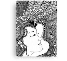 women bw Canvas Print