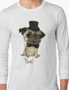 Pug; gentle pug. Long Sleeve T-Shirt