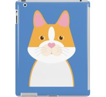Yellow Flat Cat iPad Case/Skin