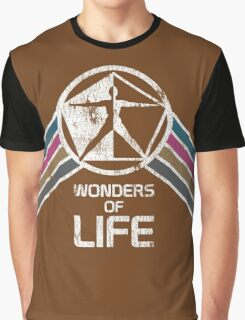 Wonders of Life Logo in Vintage Distressed Style Graphic T-Shirt