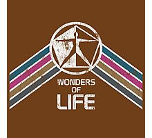 Vintage Distressed Wonders of Life Logo from EPCOT Center Photographic Print