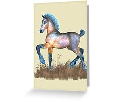Foal with a spring in his step Greeting Card