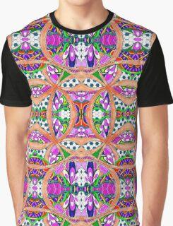 Peach Pattern Graphic T-Shirt