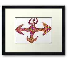 trippy vajra Framed Print