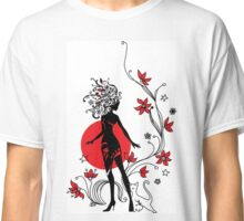 Graphic silhouette of a woman Classic T-Shirt