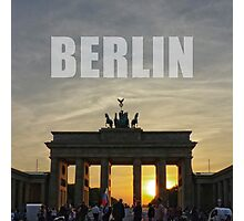 BERLIN Brandenburg Gate sunset (Brandenburger Tor) Photographic Print