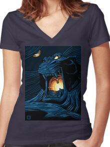 Cave of Wonders Women's Fitted V-Neck T-Shirt