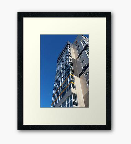 high rise building Framed Print