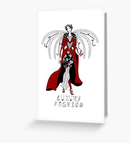 Beautiful woman with wings Greeting Card