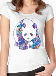 Playful Panda Women's Fitted Scoop T-Shirt