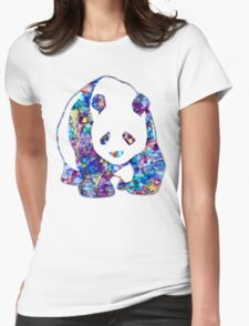 Playful Panda Womens Fitted T-Shirt