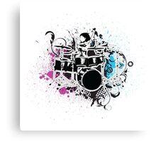 Funky Drummer Vector Illustration Canvas Print