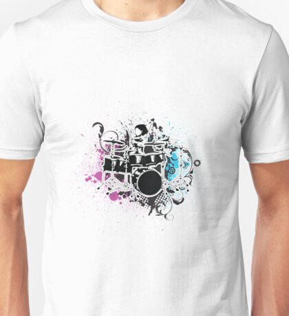 Funky Drummer Vector Illustration Unisex T-Shirt