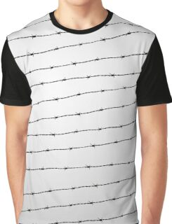 Cool gray white and black barbed wire pattern Graphic T-Shirt