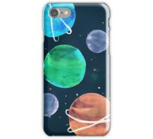 inverted planets 1 iPhone Case/Skin