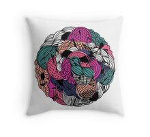 Flower Ball Throw Pillow