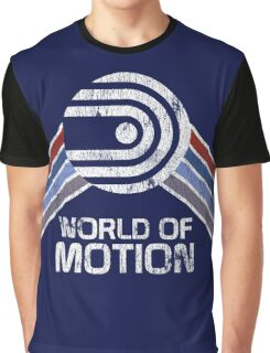 World of Motion Logo in Vintage Distressed Style Graphic T-Shirt