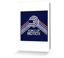 World of Motion Logo in Vintage Distressed Style Greeting Card