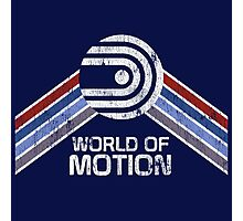 Vintage Distressed World of Motion Logo from EPCOT Center Photographic Print