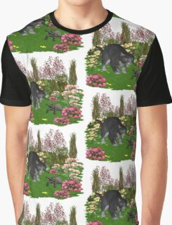 Trouble in the garden .. July Cat Graphic T-Shirt